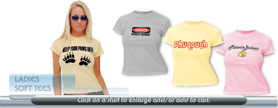 Ladies t-shirts with soft feel and great designs.